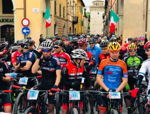 La partenza della GF Pietralata MTB Race a Fermignano